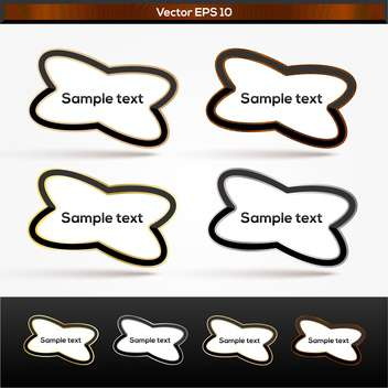 Set withwood, silver and gold text banners - Free vector #128341