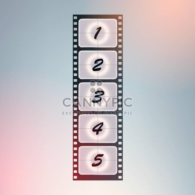 Film stripe with countdown numbers - Free vector #128361
