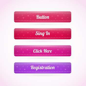 Web Holiday Elements Buttons - бесплатный vector #128401