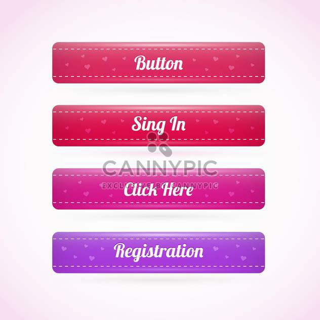 Web Holiday Elements Buttons - Free vector #128401