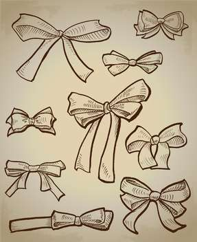 Vector collection of sketch bows - Free vector #128511