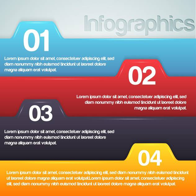 Vector illustration of numbered banners. - vector gratuit #128521