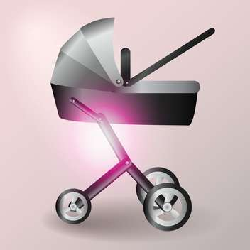 Baby stroller vector illustration - Free vector #128551