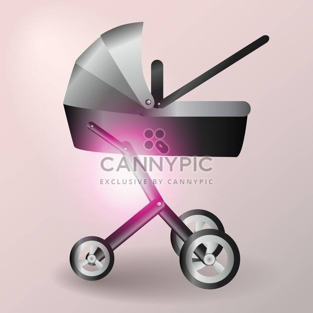 Baby-Kinderwagen-Vektor-illustration - Kostenloses vector #128551