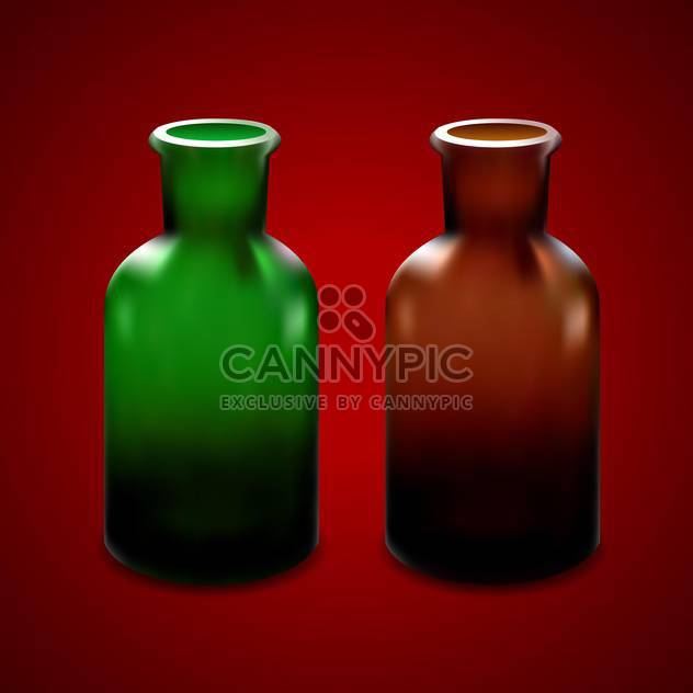 Vector illustration of empty glass jars - Free vector #128571