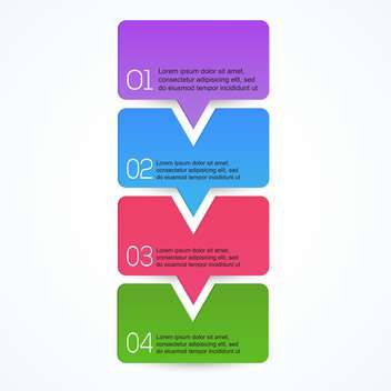 Graphic or website vector colorful layout - Free vector #128581