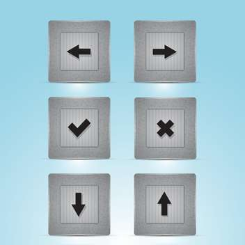 Vector web buttons with navigations icon - Free vector #128591