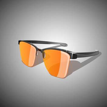Vector illustration of yellow sun glasses - vector gratuit #128601