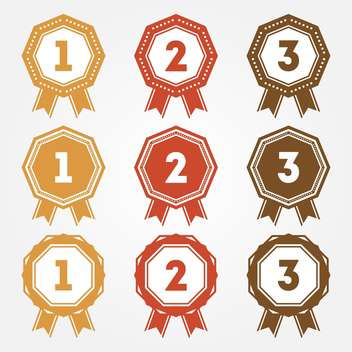 Set of vector retro ranking badges - vector gratuit #128641