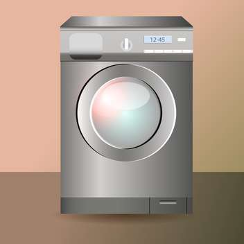 Vector illustration of washing machine - vector #128661 gratis