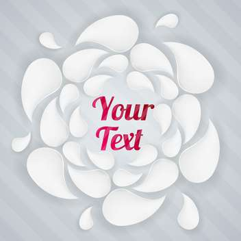 Vector background with white drops and sample text - Free vector #128731