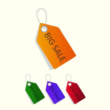 Vector set of colorful sale tags - vector gratuit #128831