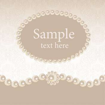 Vintage background with round pearl frame - vector #128851 gratis