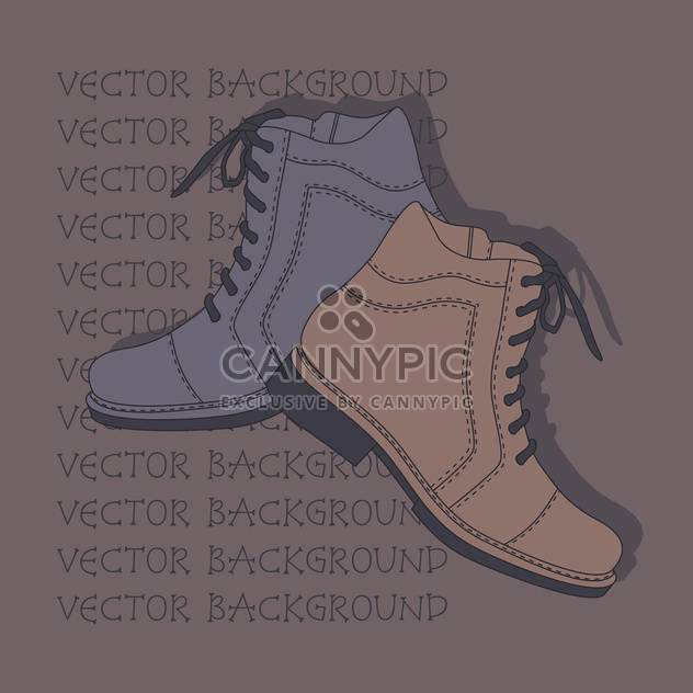 De fundo Vector com sapatos marrons e cinzas. - Free vector #128861