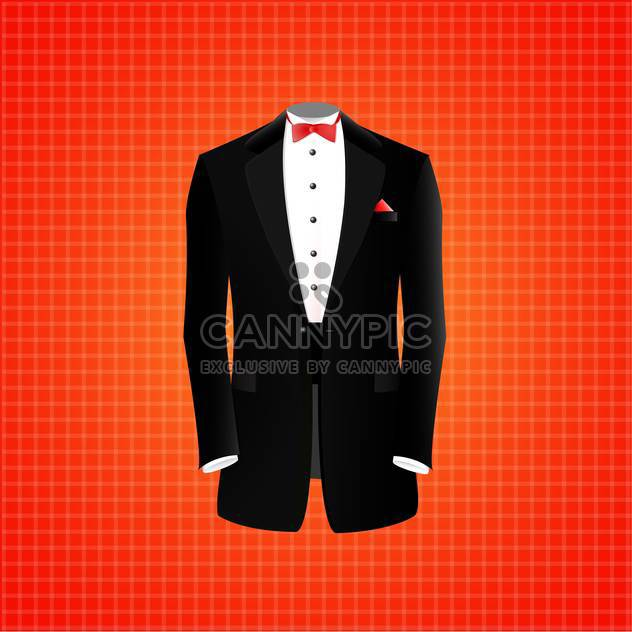 vector illustration of black suit on red background - Free vector #128871