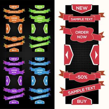 Collection of vector sale ribbons, stickers, tabs - Kostenloses vector #128911
