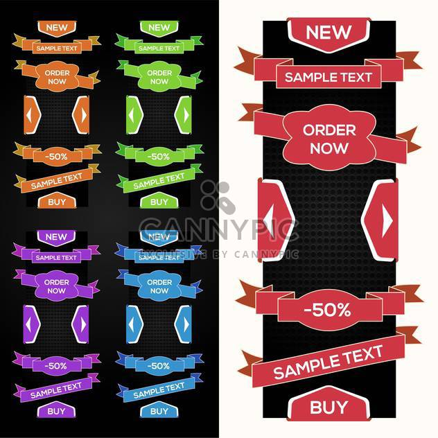 Collection of vector sale ribbons, stickers, tabs - Free vector #128911