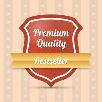 bestseller premium quality shield - Free vector #128961