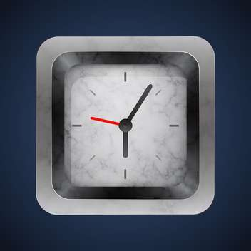 vector silver clock background - vector #128991 gratis