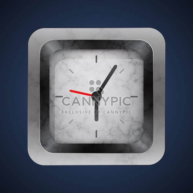 vector silver clock background - Free vector #128991