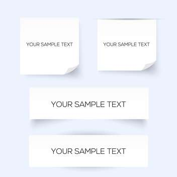 set of four sheets of paper with place for text - vector gratuit #129001