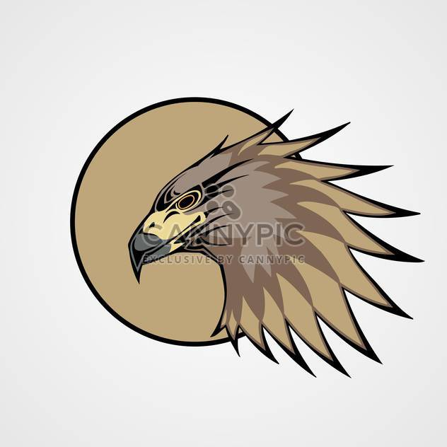 head of hawk bird illustration - Free vector #129021