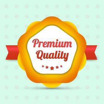 bestseller premium quality label - Free vector #129111