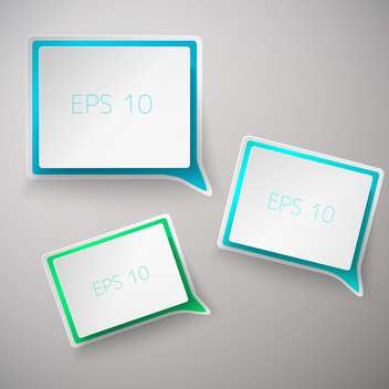 set of web square speech bubbles set - vector #129151 gratis