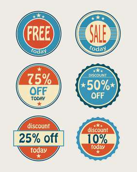 set of vector shopping sale labels - vector gratuit #129171