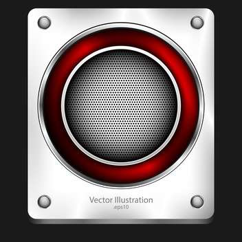 abstract loudspeaker metallic background - Free vector #129191