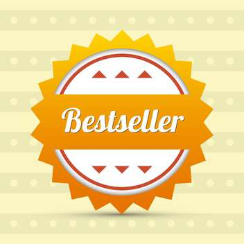 bestseller vector label background - Free vector #129231