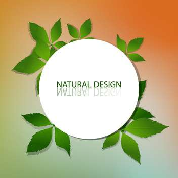 vector natural design frame - vector gratuit #129241