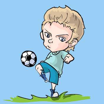 little vector soccer player - Free vector #129261