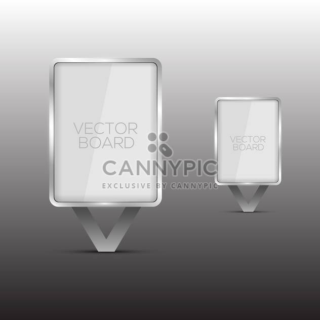 vector glass billboards set - Free vector #129271