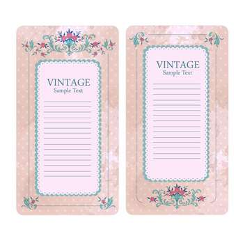 Vintage vector floral banners isolated on white background - Free vector #129311