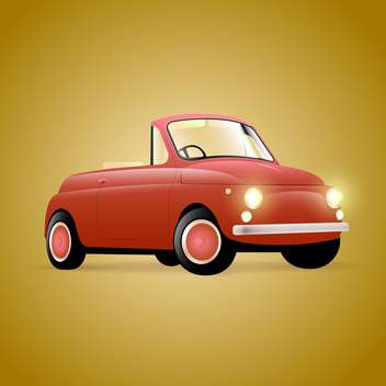 Vector illustration of red retro cabriolet car - бесплатный vector #129411
