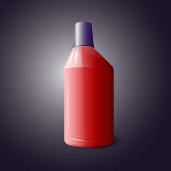 Vector illustration of red bottle of cleaning product on black background - vector gratuit #129421