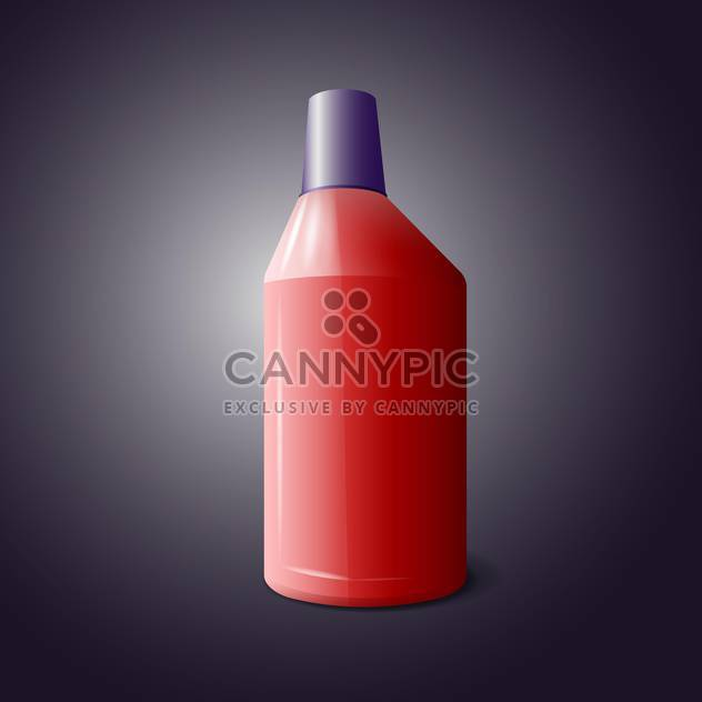 Vector illustration of red bottle of cleaning product on black background - Free vector #129421