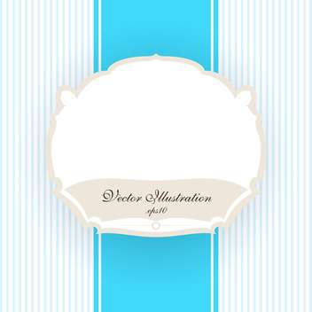 Vector vintage blue striped background with white frame - vector gratuit #129741