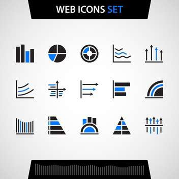 Finance and business web icons set - vector #129931 gratis