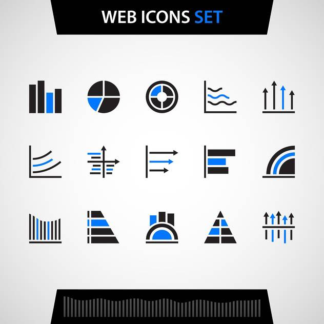 Finance and business web icons set - vector gratuit #129931