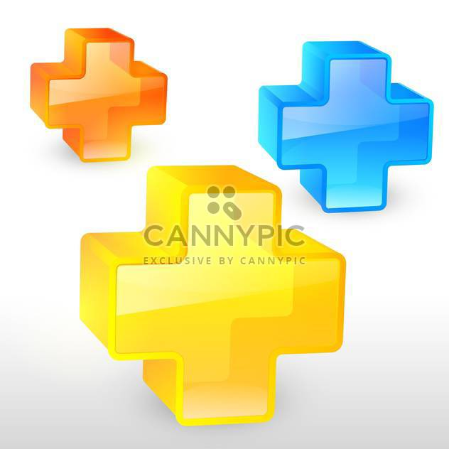 Vector illustration of colorful pluses - Free vector #129971