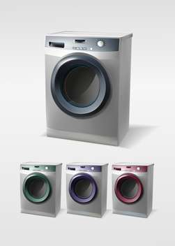 Vector set of washing machines isolated - vector gratuit #129991