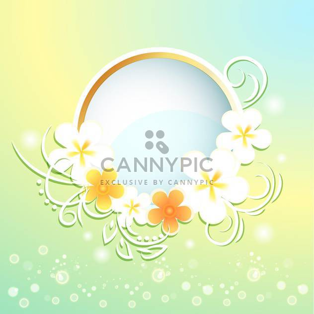 Spring frame with flowers on bright background - Free vector #130051