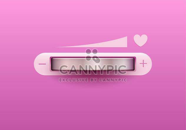 Vector illustration of love control button on pink background - Free vector #130091