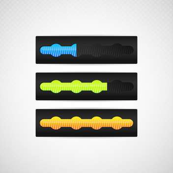Vector illustration of loading bars for web design - vector gratuit #130231