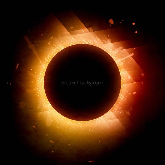 solar eclipse design background - vector gratuit #130291