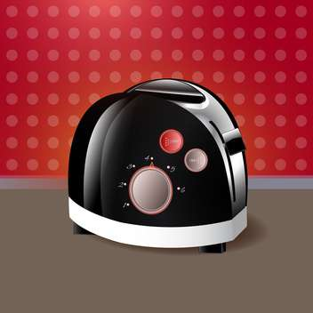 kitchen toaster vector illustration - vector #130311 gratis