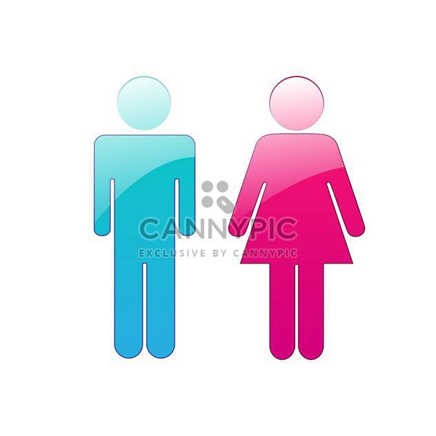vector man and woman restroom icons - Kostenloses vector #130331