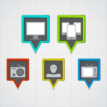 web computer banners icons - Kostenloses vector #130351